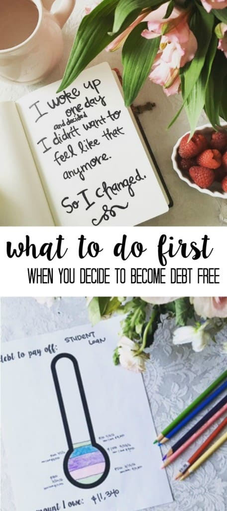 what to do when you first decide you want to pay off your debt and be debt free! Tips from someone who has paid off over $40,000 in debt. What to do when you decide to get out of debt
