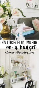 How I decorated my living room on a budget. 11 budget decorating tips how to create a beautiful home on a tiny budget. Lots of practical tips and ideas.