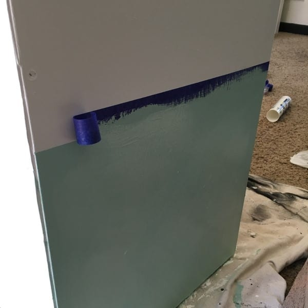 how to make a play kitchen from an entertainment center mint paint