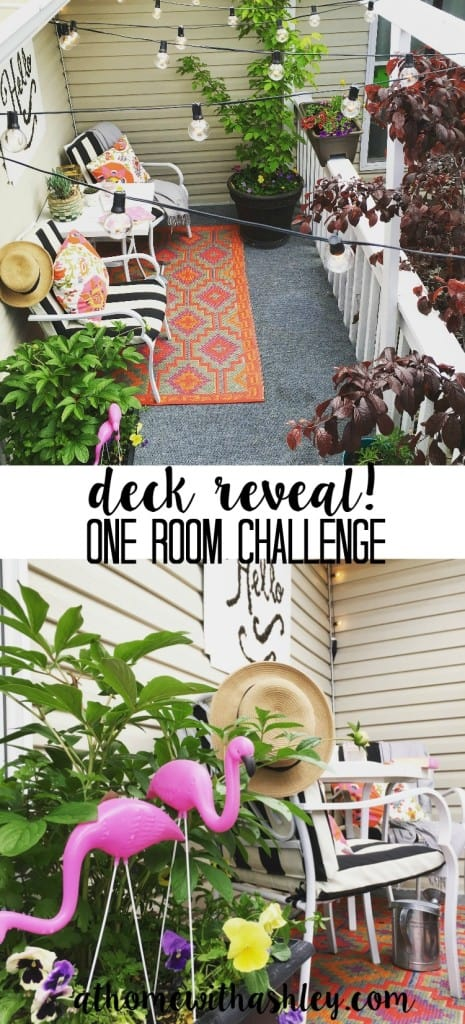 deck reveal- one room challenge. At Home with Ashley