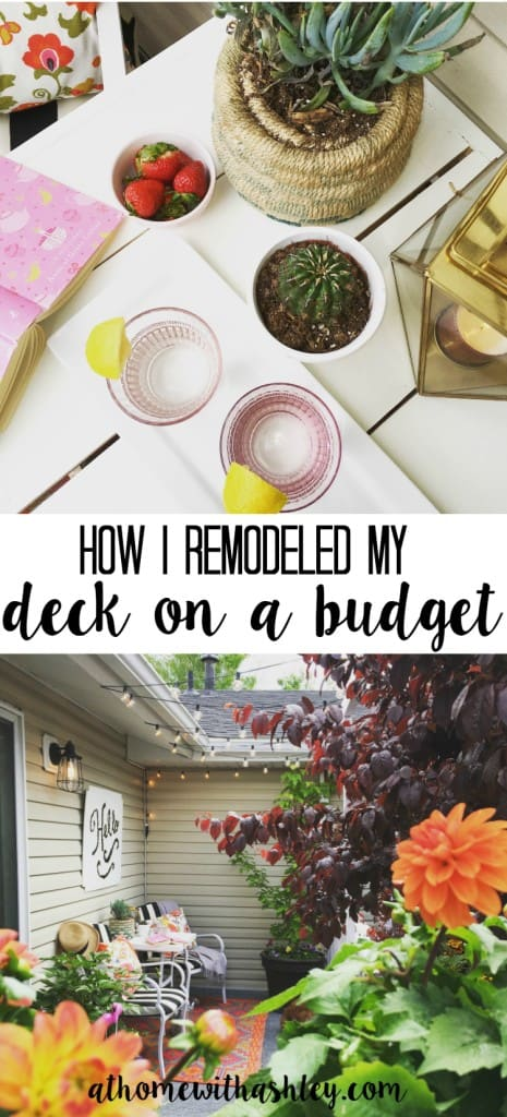 how I remodeled my deck on a budget