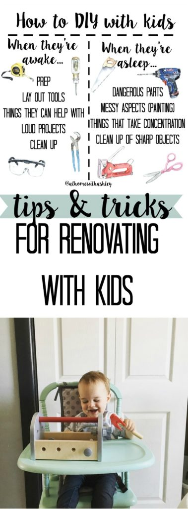 tips and tricks for renovating with kids