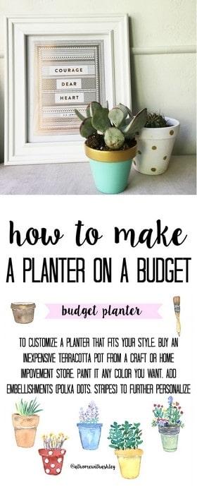 budget planter pinterest image