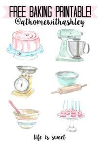 free baking printable