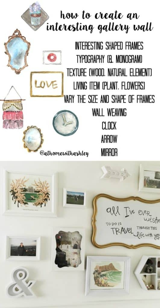 how to create an interesting gallery wall pinnable image