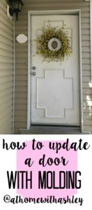 how to update a door with molding