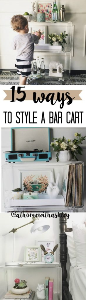 15 ways to style a barcart