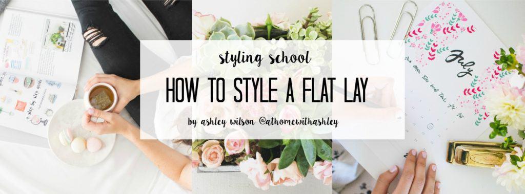 flat lay styling school