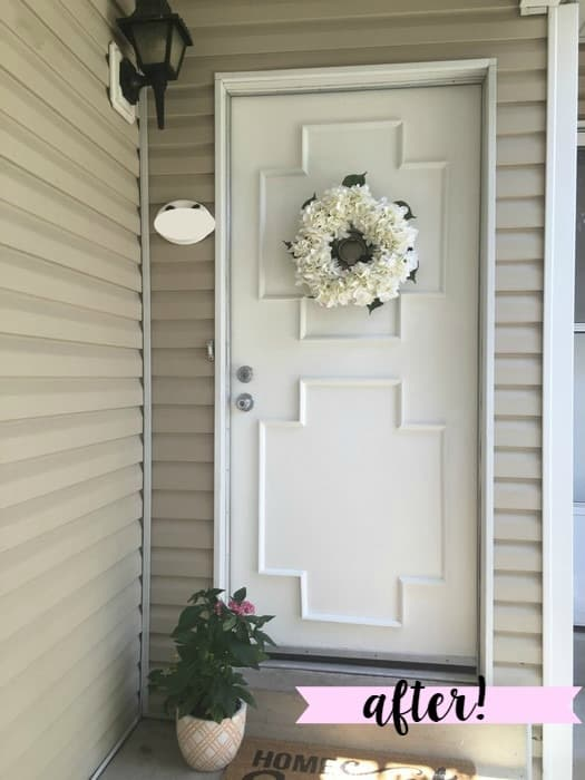 how to give your door a new look and makeover for $50 after