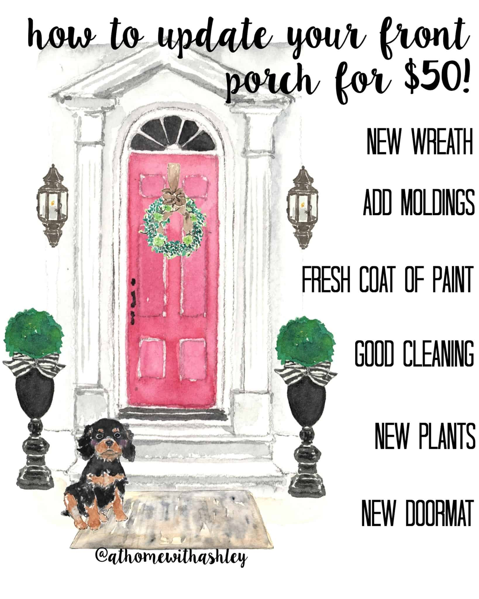 how to update your front porch for $50