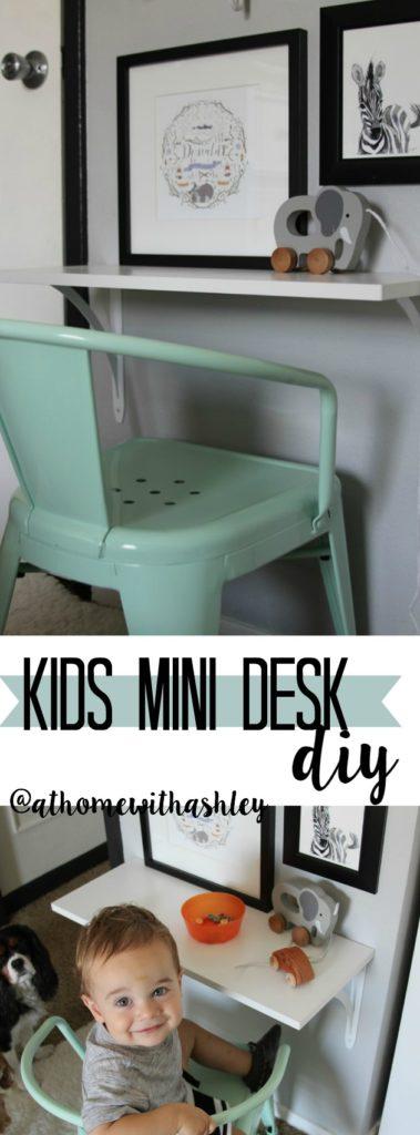 kids mini desk diy