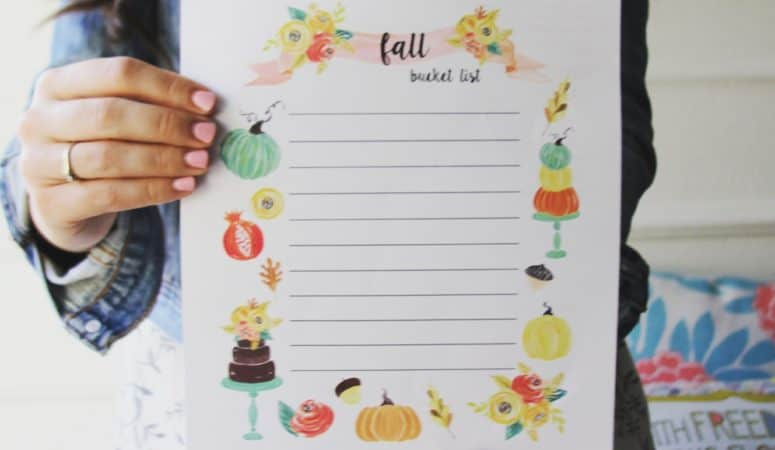 Fall Bucket List (free printable!)