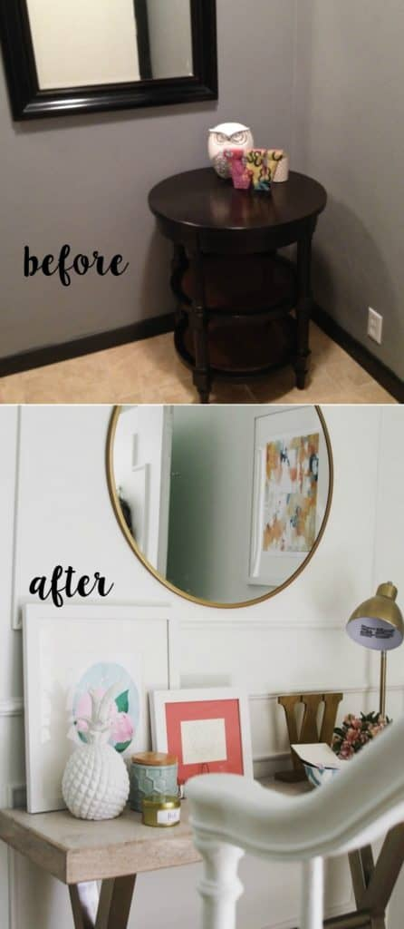 entry makeover before and after