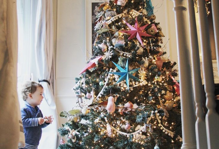 Christmas Decorating with an (almost) 2 Year Old