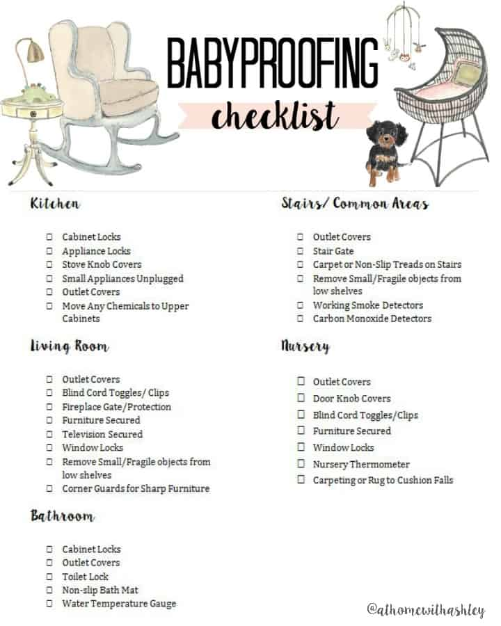 Babyproofing Checklist At Home With Ashley