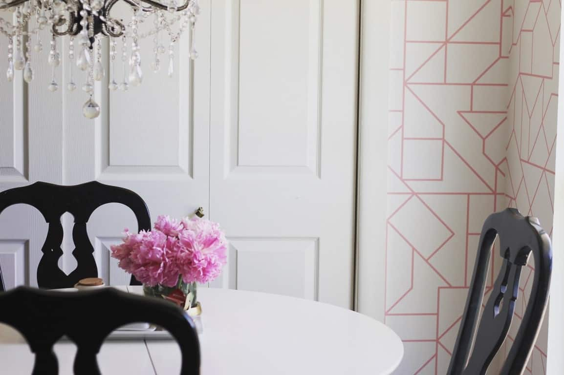 How to Install Removable Wallpaper- Dining Room - at home with Ashley