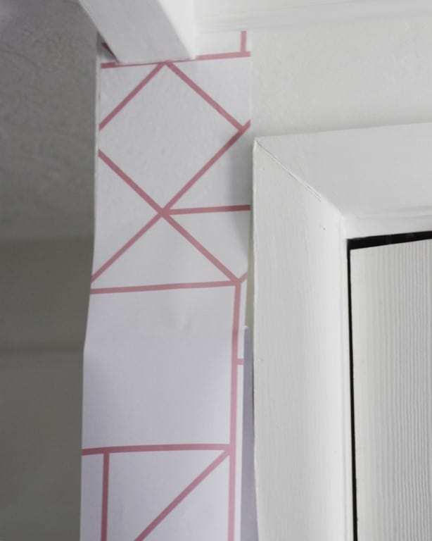 guide for how to install and hang removable wallpaper that is temporary. Putting up wallpaper