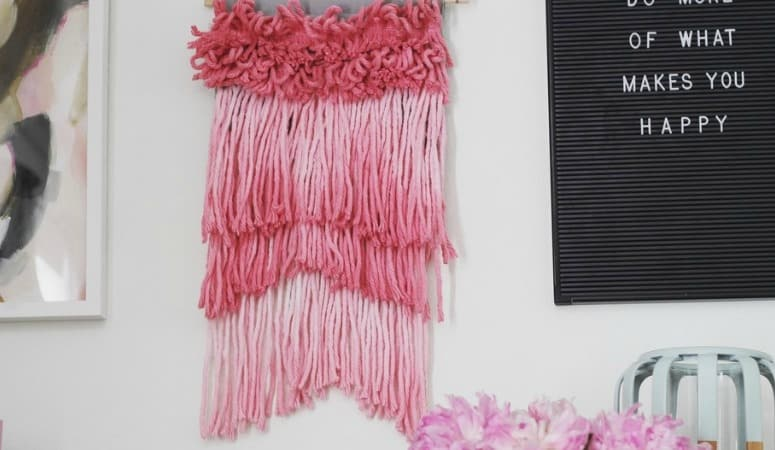 How to make a Wall Hanging from a Mop