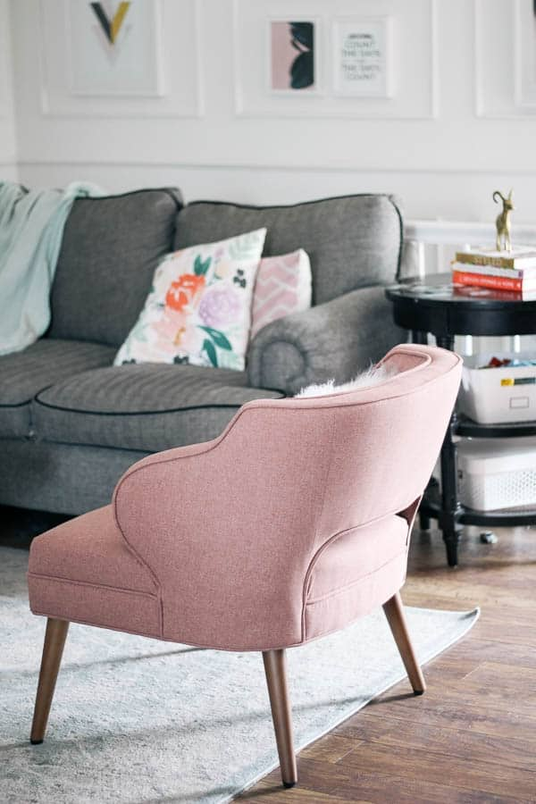 Pink Living Room Chairs. Want to see the chair in room  Living Room Refresh Tips on Choosing an Accent Chair at home