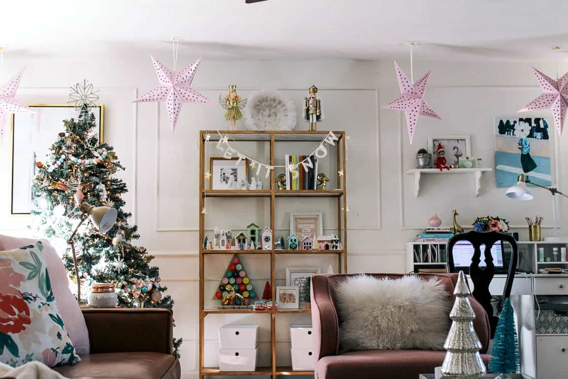Living Room Reveal and Christmas Decor! - at home with Ashley
