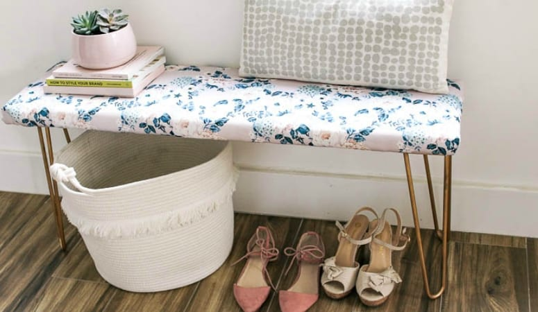DIY Hairpin Floral Bench