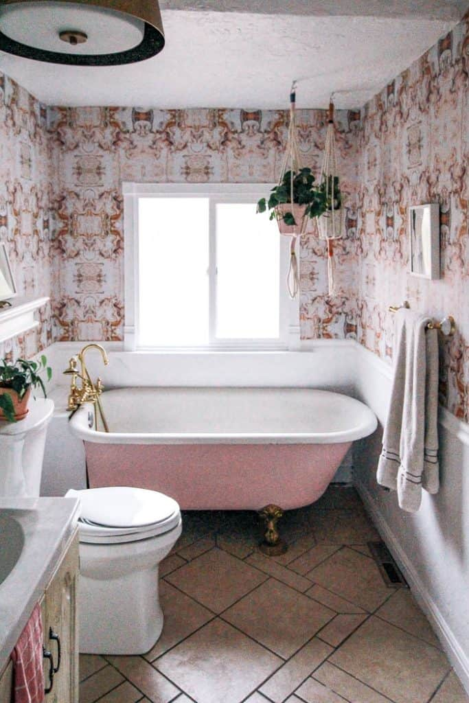 Peel And Stick Bathroom Tile At Home With Ashley
