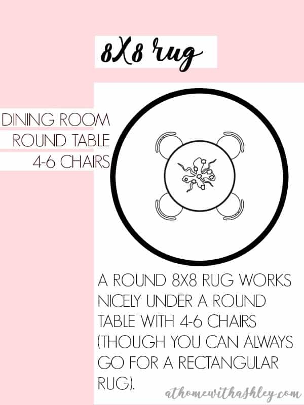 8X8 RUG DINING ROOM ROUND TABLE 4-6 rug