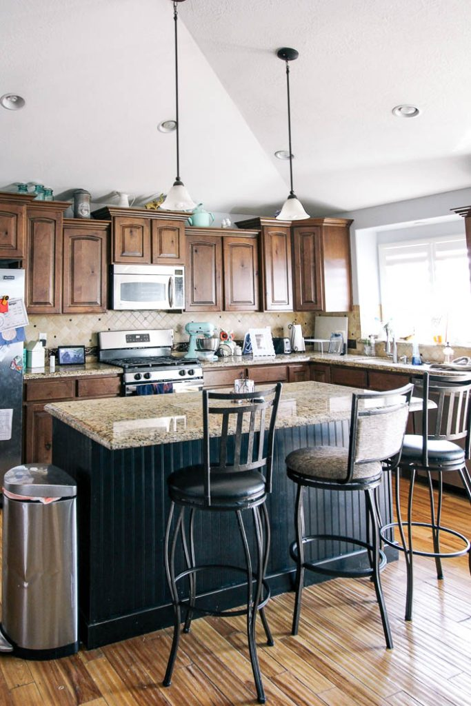 How To Paint A Kitchen Island At Home With Ashley