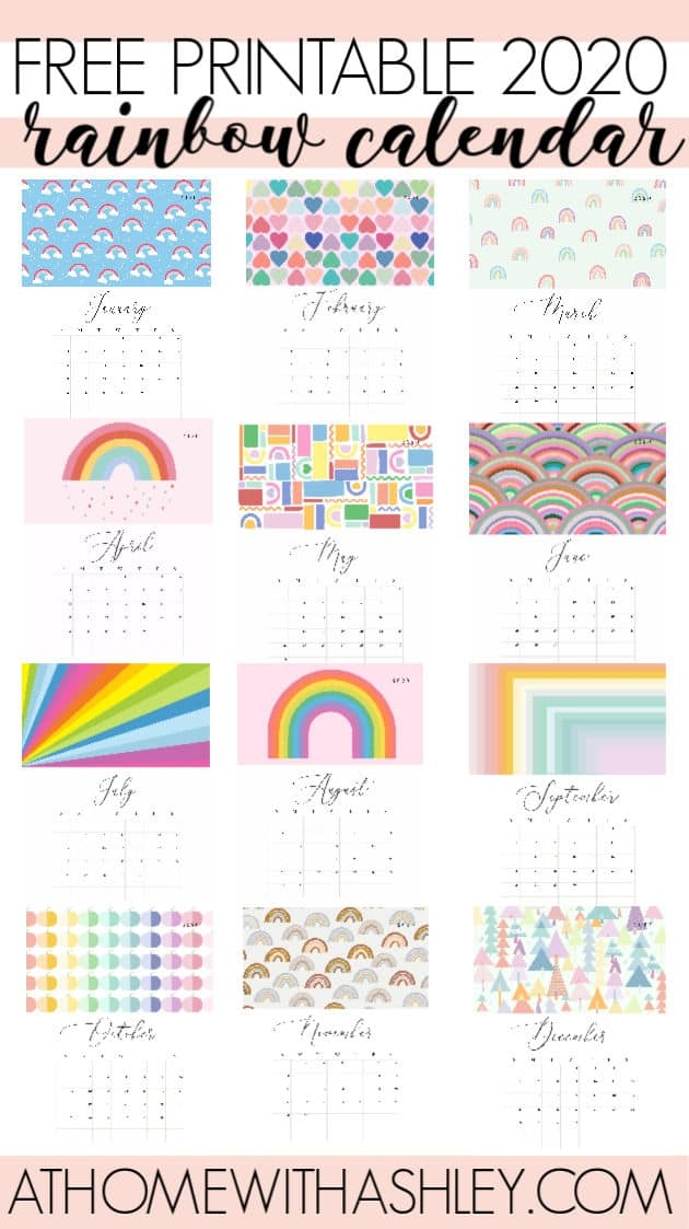 PIN IMAGE Free Printable 2020 Calendar