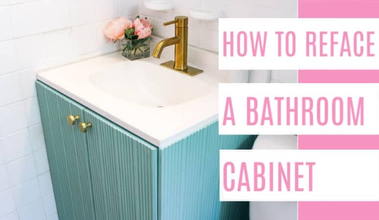 Featured How To Reface A Bathroom Cabinet At Home With Ashley