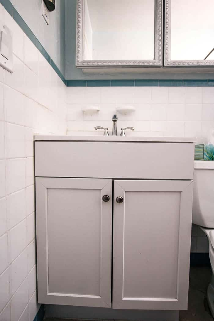 Fluted Bathroom Cabinet Refacing Diy 8310 At Home With Ashley
