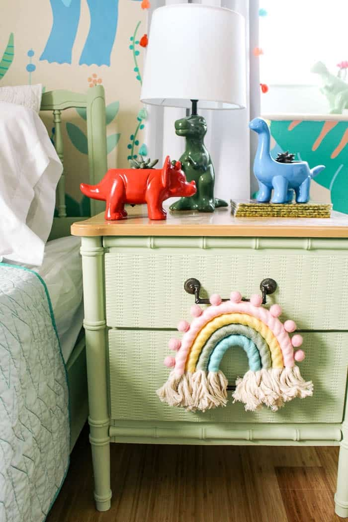 mini macrame rainbow wall hanging. Using cotton rope wrapped in yarn, here's a diy tutorial with step by step easy instructions. How to make a small fiber colorful rainbow. It's decorative and SO cute for a nursery or a girl rooms or play room