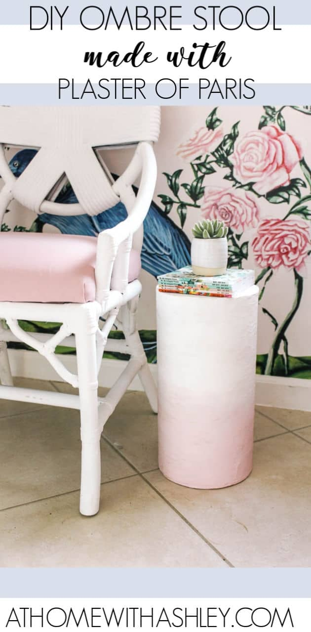 Diy Stool With Plaster Of Paris At Home With Ashley