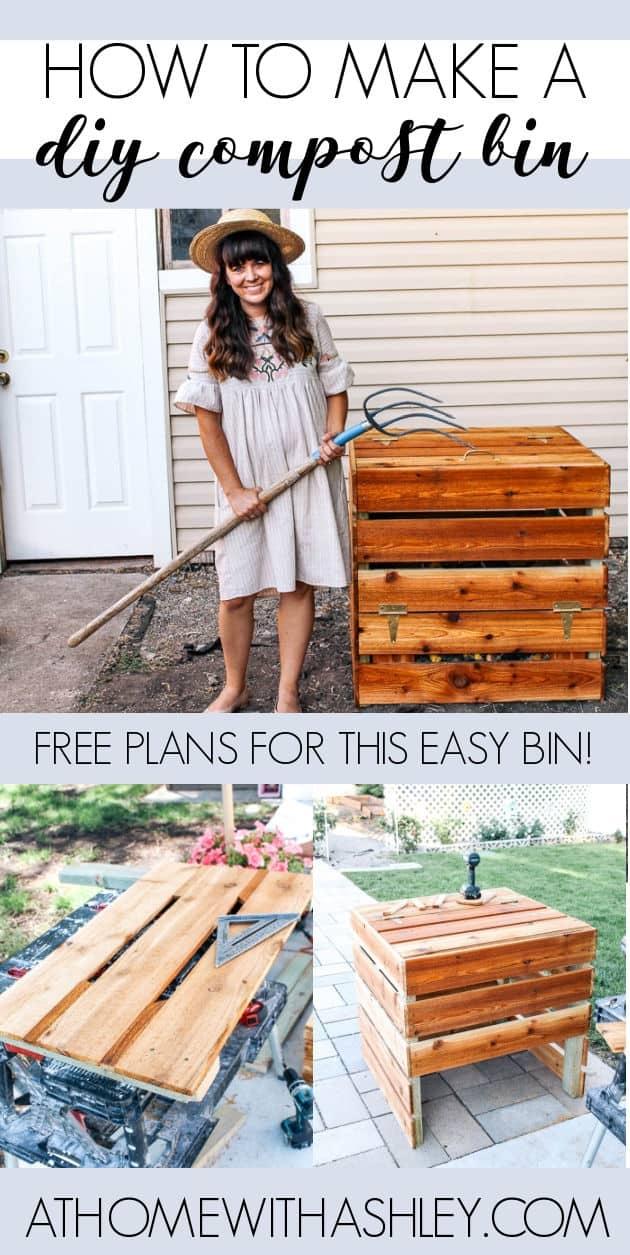 """DIY Kompostbehälter. Ein einfaches Projekt, das auch billig ist! Ein kleiner Holzkompostbehälter mit den Plänen und einer Schnittliste. Ein vollständiges Tutorial, das Sie durch jeden Schritt führt. Perfekt ist, dass Sie Abfall reduzieren und recyceln und die Bodenqualität in Ihrem Garten verbessern möchten. """"width ="""" 630 """"height ="""" 1255 """"data-pin-description ="""" DIY-Kompostbehälter. Ein einfaches Projekt, das auch billig ist! Ein kleiner Holzkompostbehälter mit den Plänen und einer Schnittliste. Ein vollständiges Tutorial, das Sie durch jeden Schritt führt. Perfekt ist, dass Sie Abfall reduzieren und recyceln und die Bodenqualität in Ihrem Garten verbessern möchten. """"srcset ="""" https://athomewithashley.com/wp-content/uploads/2020/07/PIN-DIY-COMPOST-BIN.jpg 630w, https://athomewithashley.com/wp-content/uploads/2020/07 /PIN-DIY-COMPOST-BIN-151x300.jpg 151w, https://athomewithashley.com/wp-content/uploads/2020/07/PIN-DIY-COMPOST-BIN-514x1024.jpg 514w, https: // athomewithashley .com / wp-content / uploads / 2020/07 / PIN-DIY-COMPOST-BIN-600x1195.jpg 600w """"Größen ="""" (maximale Breite: 630px) 100vw, 630px """"/></a></p> <p><h3 class="""
